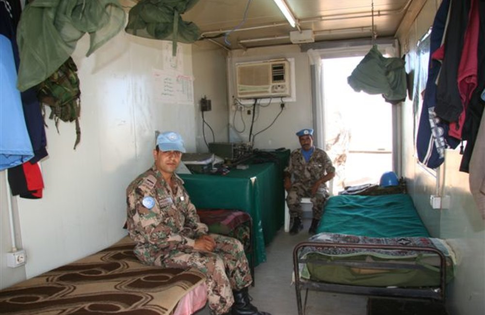 UNMEE Radio operators in their quarters in Tukul, Eritrea (UNMEE Photo: Ian Steele)