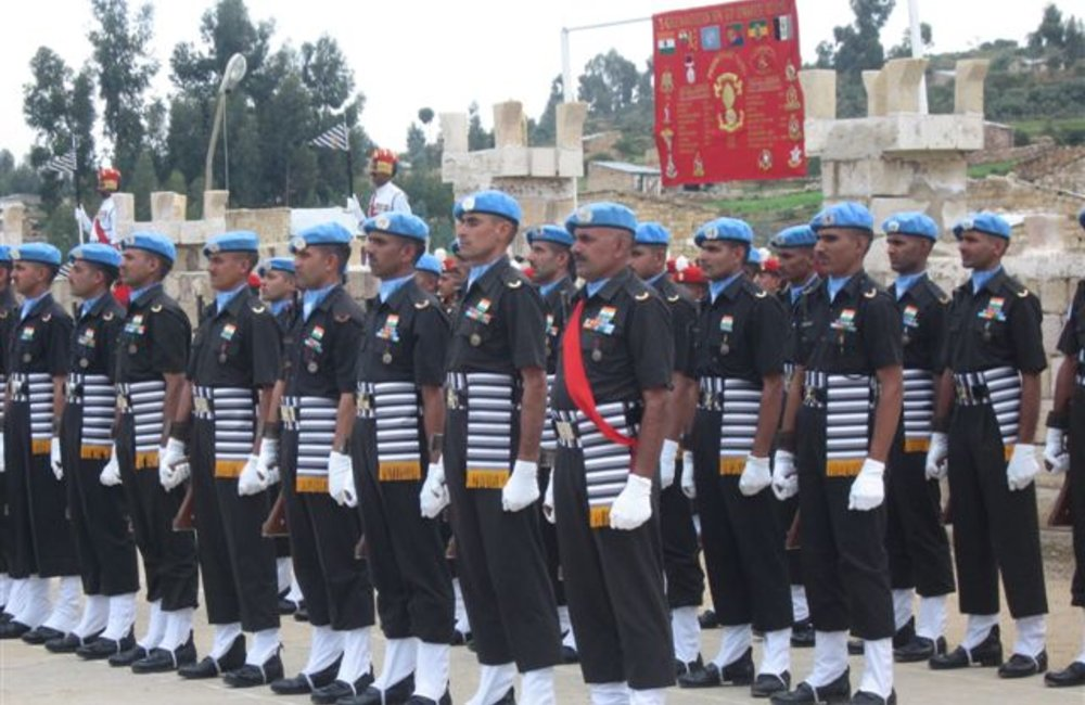 Peacekeepers of the Indian Batallion, Grenadiers in Adigrat, 4 August 2007 (UNMEE Photo: Ian Steele)