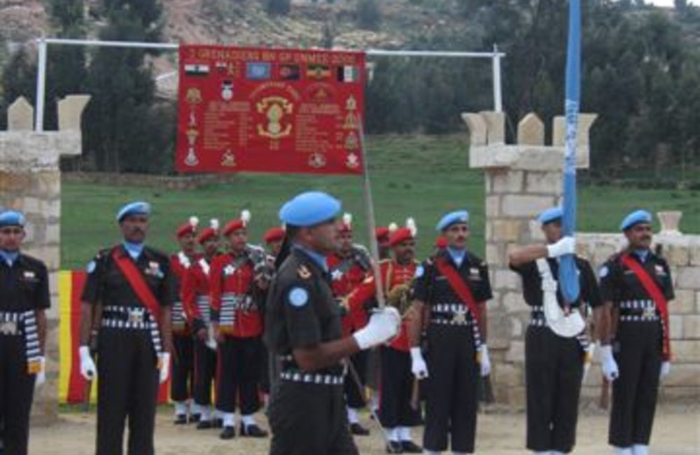 Peacekeepers of the Indian Batallion on parade in Adigrat, 4 August 2007 (UNMEE Photo: Ian Steele)