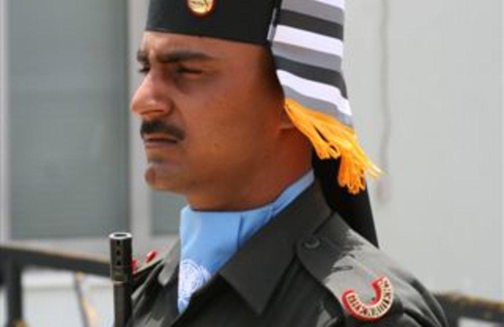 Peackeeper of the Indian Batallion, Grenadiers in Adigrat, Ethiopia 4 August 2007  (Photo: Ian Steele)