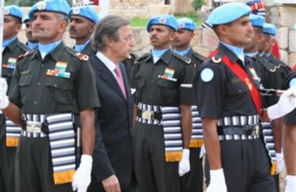 Azouz Ennifar, Acting Special Representative of the Secretary attends a medals ceremony for peackeepers of the Indian Batallion, Grenadiers in Adigrat, Ethiopia 4 August 2007 (Photo: Ian Steele)