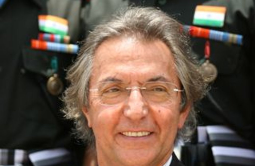 Azouz Ennifar, Acting Special Representative of the Secretary-General attends a medals ceremony for peackeepers of the Indian Batallion, Grenadiers in Adigrat, Ethiopia 4 August 2007  (Photo: Ian Steele)