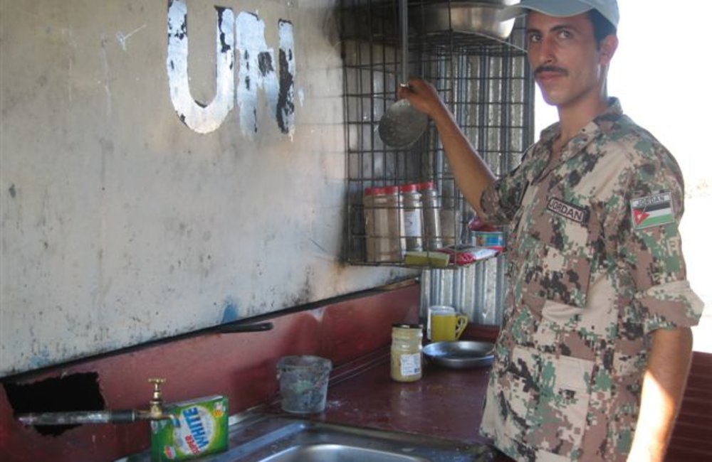 Field kitchen at the Shambiko team site, Eritrea. 27 November 2007 (Photo: Ian Steele)