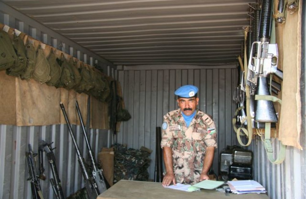 Peacekeepers' armory at Maileba, Eritrea 28 November 2008 (Photo: Ian Steele)