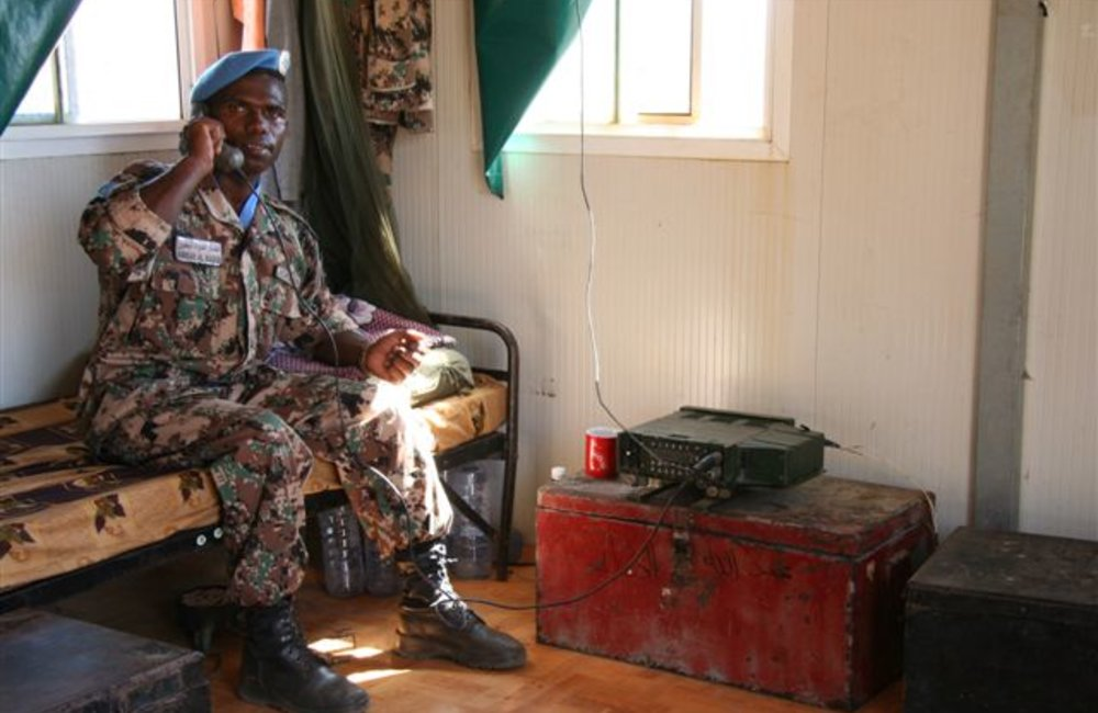 Radio operator in his quarters at Maileba, Eritrea 28 November 2008 (Photo: Ian Steele)