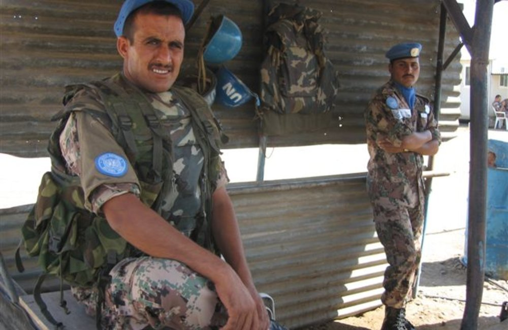 Jordanian Peacekeepers at the Maileba team site, Eritrea 28 November 2008 (Photo: Ian Steele)