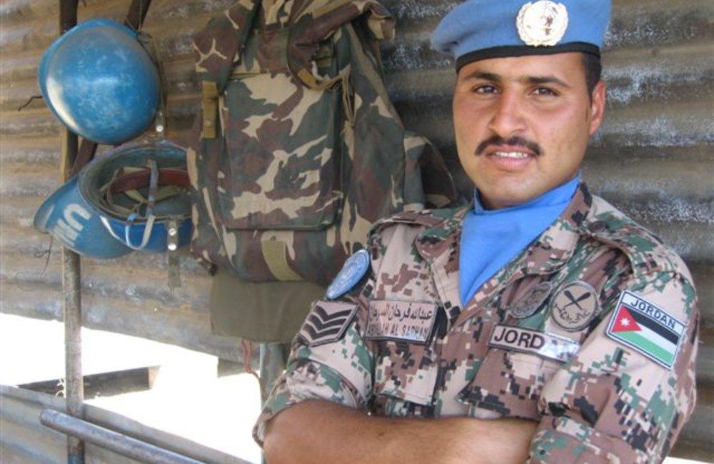 Jordanian Peacekeeper at the Maileba team site, Eritrea 28 November 2008 (Photo: Ian Steele)